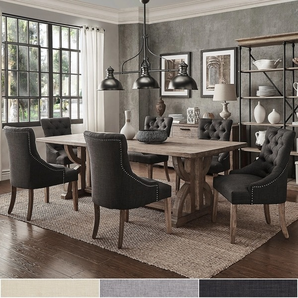 Pine Dining Room Sets: Shop Paloma Salvaged Reclaimed Pine Wood 7-Piece Rectangle