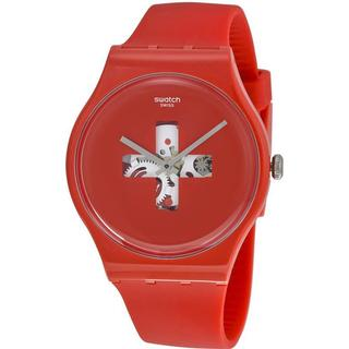 Swatch Swiss Around the Clock Men's SUOR106 Red Watch