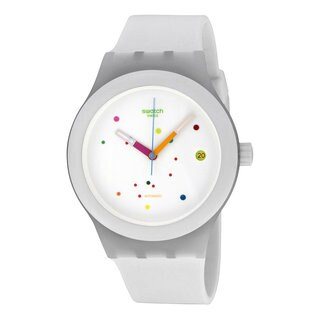 Swatch Unisex SUTW400 Sistem White Watch