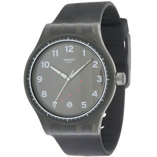 Swatch Sistem Gentleman Black Silicone and Plastic Men's Watch