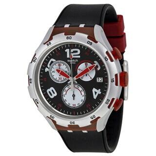Swatch Red Wheel Men's Watch