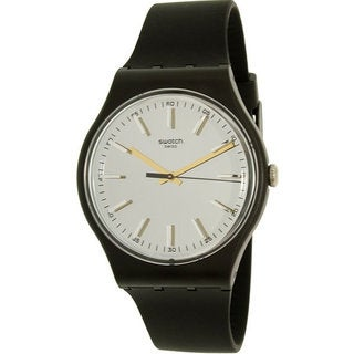 Swatch Passe Partout Unisex Black Silicone Watch