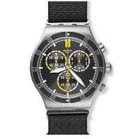 Swatch Orange Teeth Men's  Chronograph Leather Watch