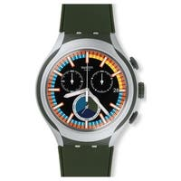 Swatch MOOS  Black Silicone Men's Watch