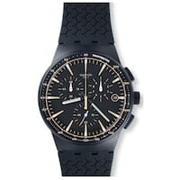 Swatch Meine Spur Blue Plastic/Silicone Men's Watch