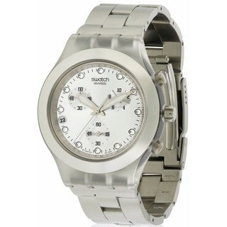 Swatch Full Blooded SVCK4038G Silvertone Midsize Watch