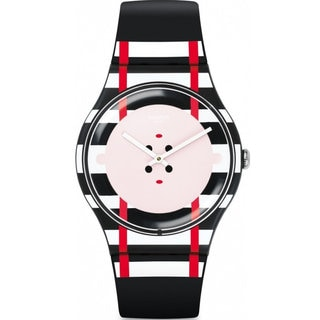 Swatch Multicolor Silicone and Plastic Unisex Watch