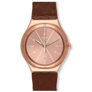 Swatch Bodega YWG402 Unisex Stainless Steel, Leather Watch