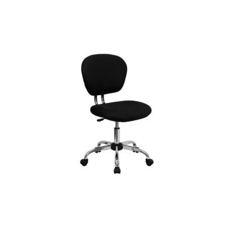 Mesh Mid back Black Office Task Chair Chrome Base