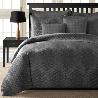 Comfy Bedding Galaxy Grey Jacquard 5-piece Comforter Set