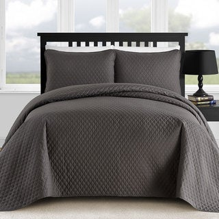 Comfy Bedding Diamond Thermal Pressing 3-piece Oversized Coverlet Set