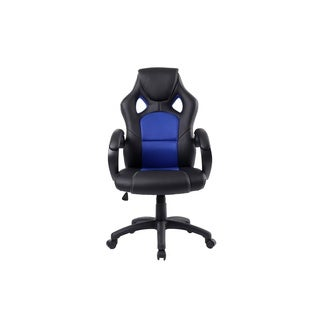 Executive High back Leather Blue Office Desk Gaming Chair