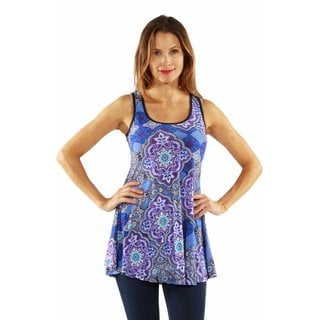 24/7 Comfort Apparel Queen of the Garden Tank Tunic Top