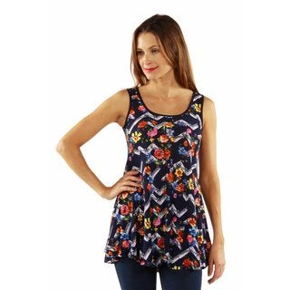 24/7 Comfort Apparel Le Grand Cirque Tunic Top