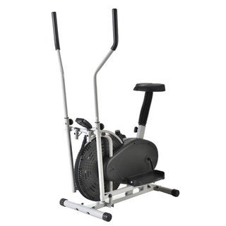 Intelligent Steel Elliptical Cross Trainer & Bike Fitness Equipment B Type - Black