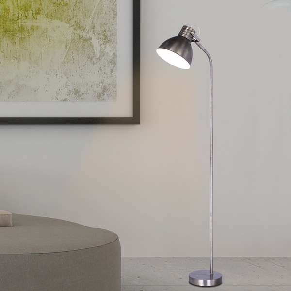 Fangio Lighting's #1541 66.5 inch Rust Brushed Steel Metal Floor Lamp in a Modern Task Lamp Style