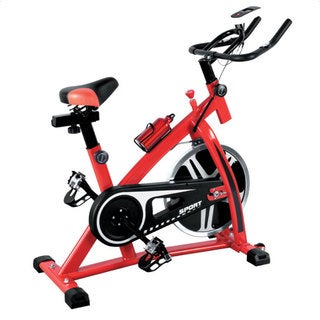 Stationary Indoor Exercise Bicycle (15-kg Flywheel / Red and Black)