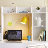 The Classic - White Desk Bookshelf