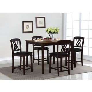 Camden 5-piece Walnut Finish Counter Height Dining Set