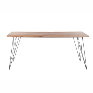 Mandara Handcrafted Hairpin Metal Legs Solid Wood Dining Table