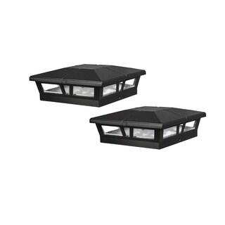 Cambridge Black Aluminum Solar Post Cap (2 pack)