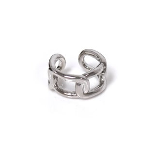 Eternally Haute Bold Chain Link Ring - Silver