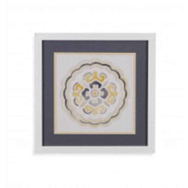 Bassett Mirror Company \'Modern Medallions II\' Underglass Framed Art ...