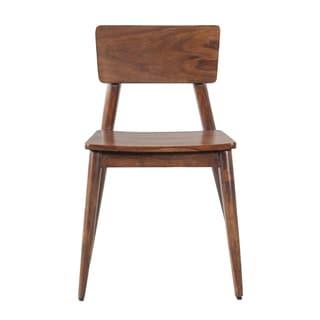 Mandara Handcrafted Walnut Wood Modern Dining Chair (Set of 2)