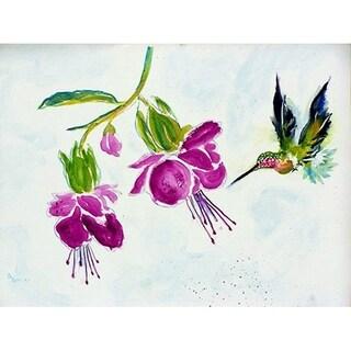 Purple Hummingbird Door Mat