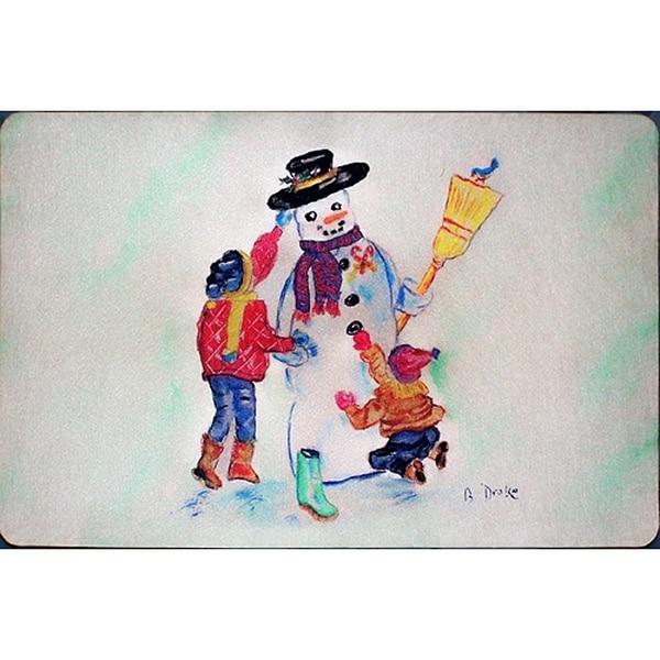 Snowman Door Mat