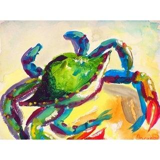 Teal Crab Door Mat