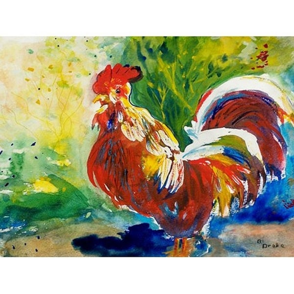 Red Rooster Door Mat