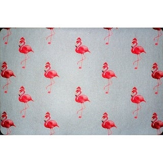 Flamingo Santa Floor Mat