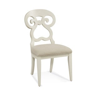 Bassett Mirror Company Avery White Linen and Wood Dining Chair (Set of 2)