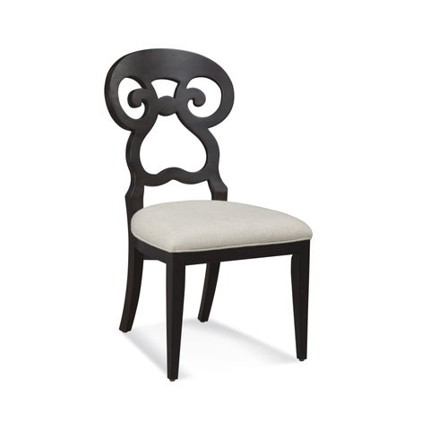 Bassett Mirror Company Riley Black Wood Dining Chair (Set of 2)