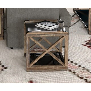 Handy Living Urbana Reclaimed Wood and Metal End Table