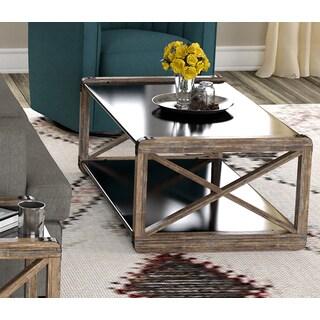 Handy Living Urbana Reclaimed Wood and Metal Coffee Table