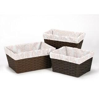 Sweet Jojo Designs Amelia Collection Basket Liners (Set of 3)
