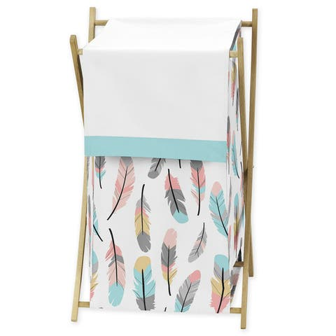 Sweet Jojo Designs Feather Collection Laundry Hamper