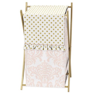 Sweet Jojo Designs Amelia Collection Wood and Fabric Laundry Hamper
