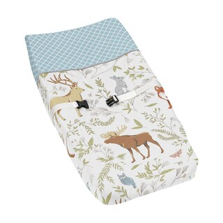 Sweet Jojo Designs Changing Pad Cover for the Woodland Toile Collection