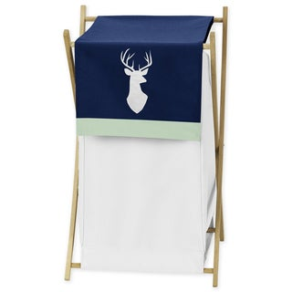 Sweet Jojo Designs Navy and Mint Woodsy Collection Laundry Hamper