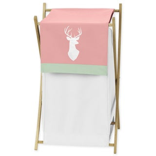 Sweet Jojo Designs Coral/Mint Woodsy Collection Laundry Hamper