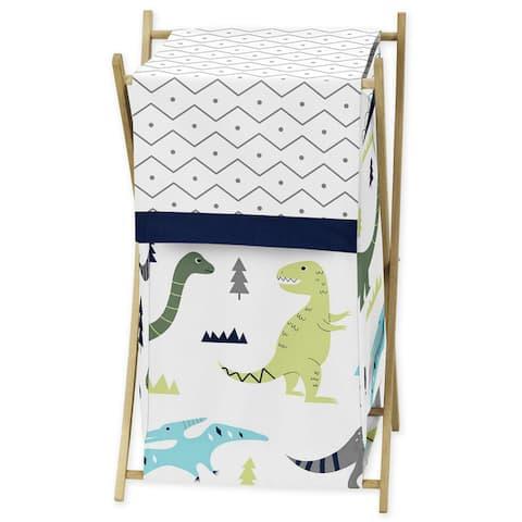 Sweet Jojo Designs Blue and Green Mod Dinosaur Collection Laundry Hamper
