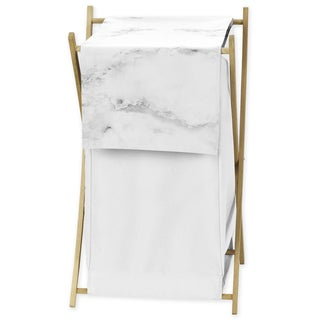 Sweet Jojo Designs Black/White Marble Collection Laundry Hamper