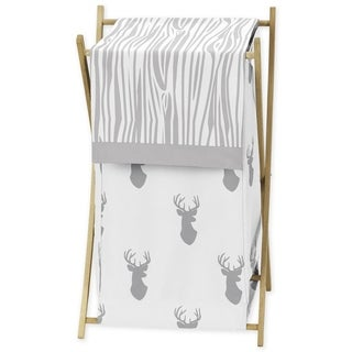 Sweet Jojo Designs Grey and White Stage Collection Fabric Laundry Hamper