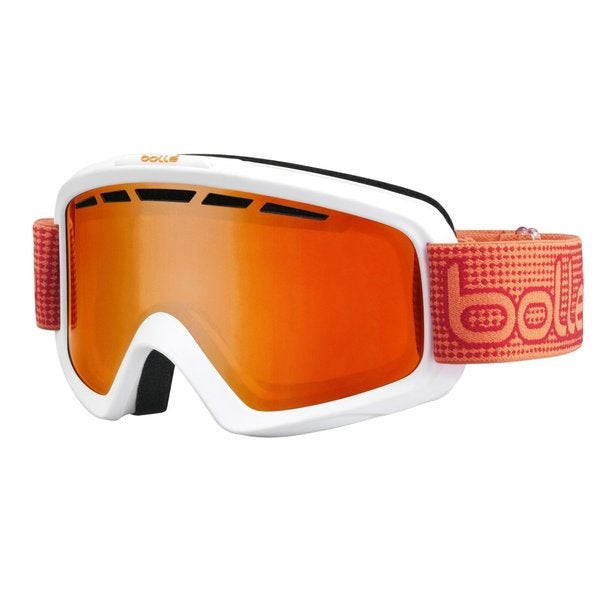 Bolle Nova II Ski/Snowboard Goggles - White & Orange Frame, Fire Orange Lens