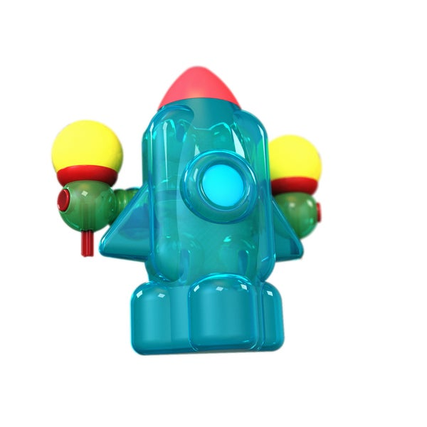 Lite Poppers STEM Learning LED Light Build-and-play Model Car Construction Toy with USB-powered LED Base Build a Rocket Kit