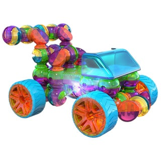 Lite Poppers STEM 4-in-1 Car Multicolored Plastic Construction Toy Kit