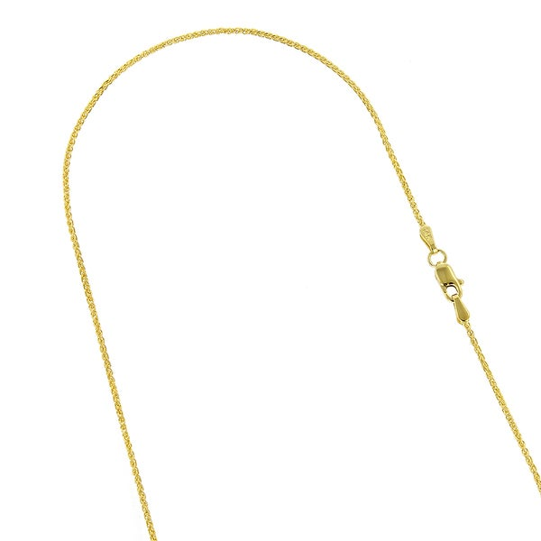 14k Gold 1.0mm Round Wheat Chain 10 Inches
